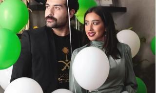 فرح الهادي تتصدر الترند بعد احتفالها بالعيد الوطني السعودي مع زوجها عقيل