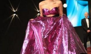 معلومات عن زينب غريب صاحبة الفستان الموف بالجونة: حلقت شعرها زيرو