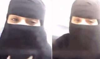 """بالفيديو: فتاة سعودية """"منتقبة"""" تنهار باكية وتكشف عن شخص تلاعب بها لمدة 10 أشهر وأوهمها بالزواج"""