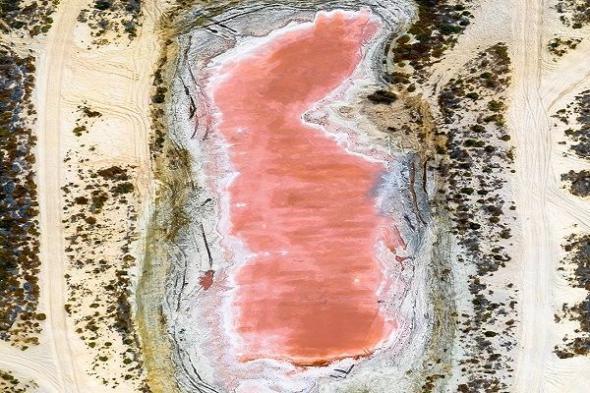 بالصور .. سر لون البحيرة الوردية بالإمارات
