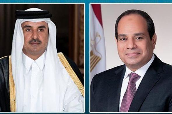 """الأول منذ """"بيان العُلا"""".. اتصال هاتفي بين السيسي وأمير قطر"""