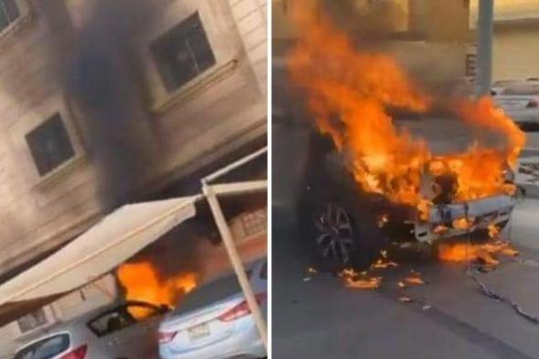 متداول : السعودية.. شاهد: ردة فعل مواطن بعدما شاهد سيارة تحترق أسفل عمارة سكنية
